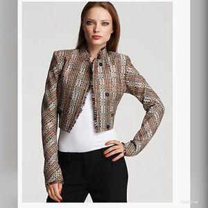 Theory Myleen Chromatic Silk Tweed Blazer